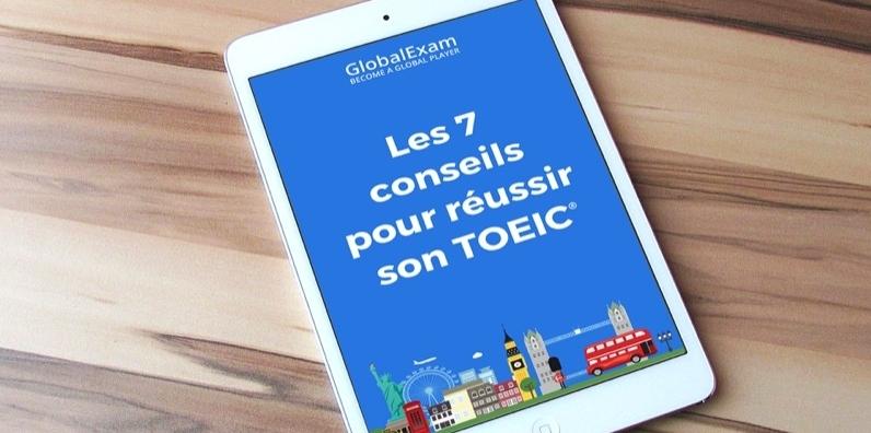 L'ebook TOEIC de GlobalExam est disponible en pdf.