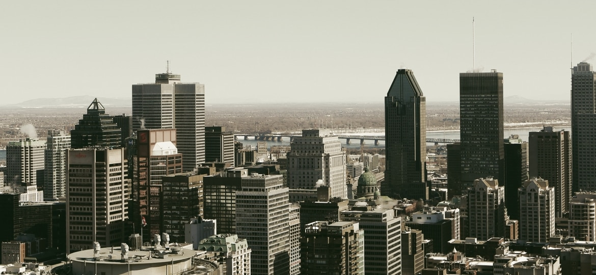 Buildings in the sky of Montreal