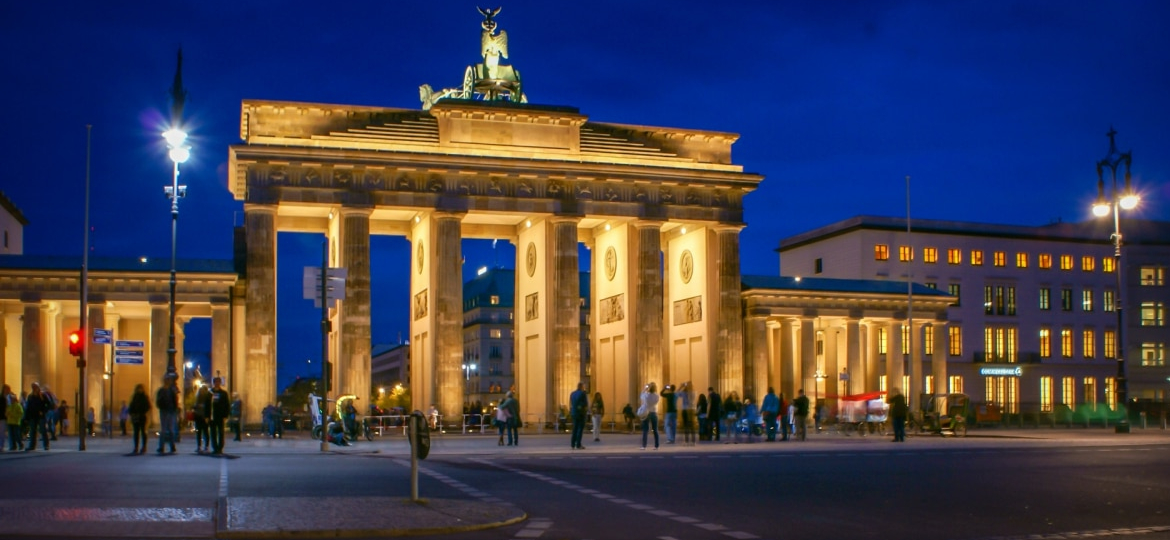 Berlin Brandenburg Gate by night