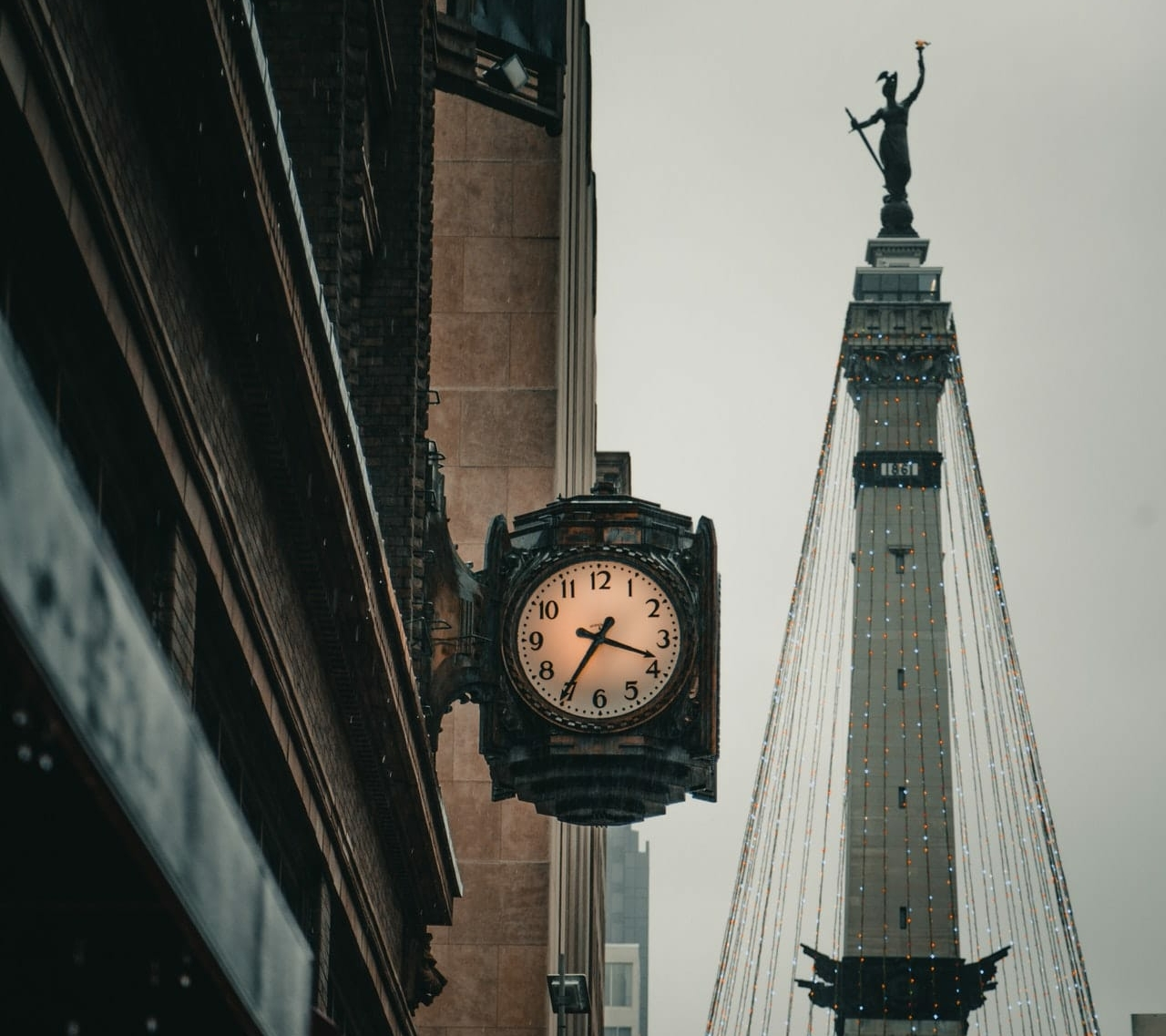 clock in indianapolis street