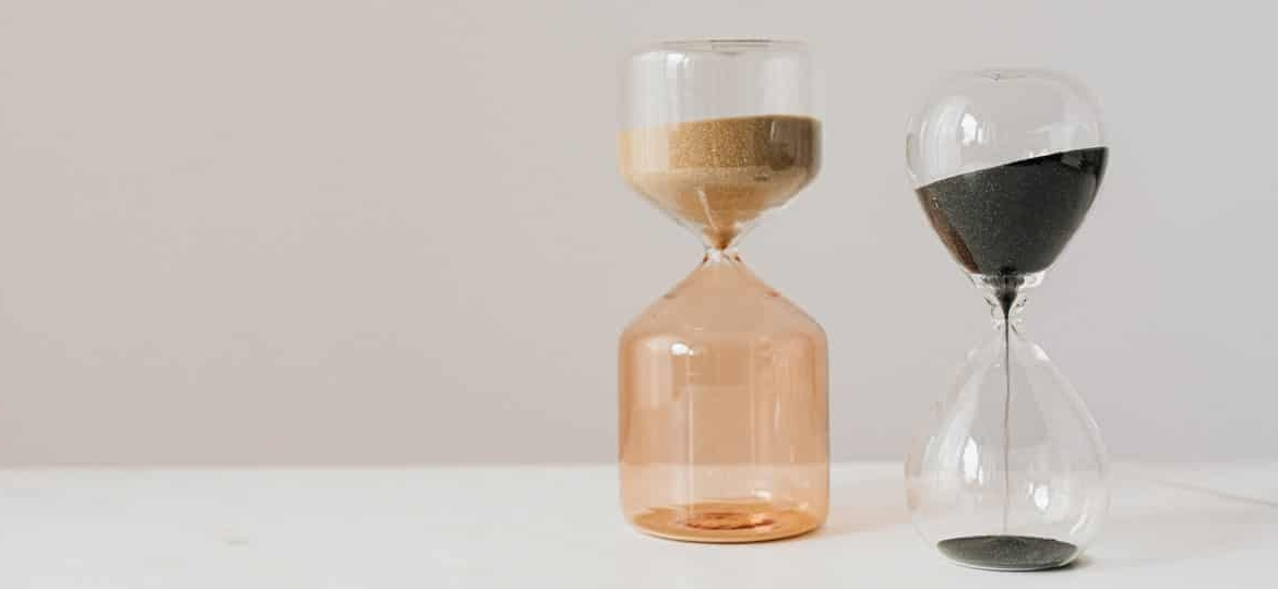 two hourglasses