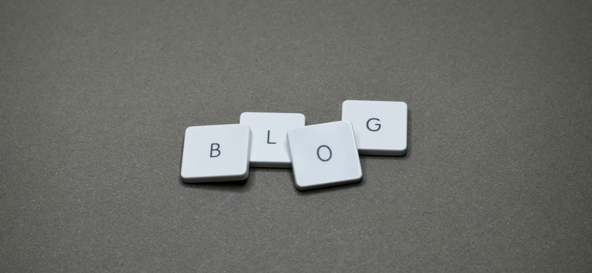 blog written on a table