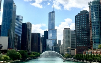 view of the city of chicago